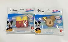 "Set of 2 NEW Disney Kawaii Squeezeies Series 1 - Mickey Mouse - ""M"" & Pancakes"
