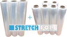 9x Stretchfolie  transparente Handstretchfolie Stretchfolie 500mm 1,5kg