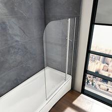 100x140cm Badewannenaufsatz Duschabtrennung Trennwand Badewannenaufsatz 2-teilig