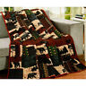 LL Home Black Bear Lodge Quilted Throw - BLACK BEAR Wilderness Cabin Throw