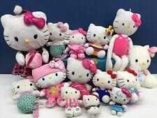 "Used VTG Modern LOT 14 Sanrio Hello Kitty Cat Plush Dolls Toys Up to 29"" long"