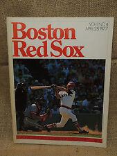 1977 Toronto Blue Jays Scoreboard Magazine Vol 1 No. 4 Boston Red Sox