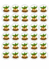 30 Christmas Bells Edible Rice/Wafer Paper Cake/Cupcake Toppers