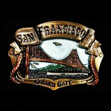 'San Francisco Golden Gate' 3D Brass Belt Buckle NEW