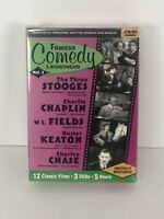Famous Comedy Legends Volume 2 (DVD, 2002) Stooges Chaplin Keaton Chase Sealed