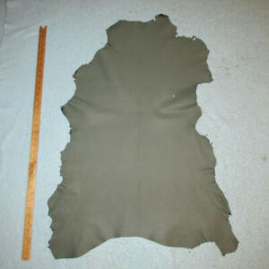 Gray Crafting Goatskin Leather Hide