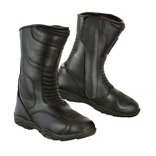 Waterproof Motorcycle Boots Touring Leather Shoes Motorbike Racing CE Armored