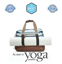 Womens Tote Workout Duffle Yoga Mat Bag Travel Sports Gym Large Go Play