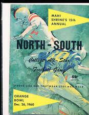 1960 12/25 North vs South All Star Football Game Program Miami Florida