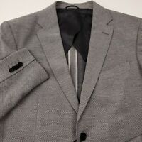 Rodd & Gunn Mens Wool Fife Street Blazer Jacket Large Sports Fit Birds Eye Gray