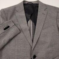 Rodd & Gunn Men's Wool Fife Street Blazer Jacket XL Sports Fit Birds Eye Gray