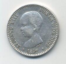 Spain - España 50 centimos 1892 KM 690 VF+ Coin Circulated