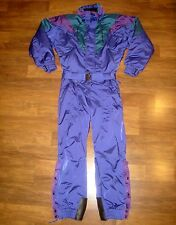 Vtg 80s COULOIR Mens 42 Blue MEDIUM One Piece Snow SKI Suit BIB Coat Snowsuit M