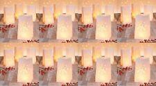 32 Lichttüten Luminarias Candlebags Deko Tüten Windlicht Gartenlicht Tischdeko
