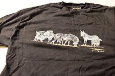 Vintage Single Stitch Zebra Shirt Africa 90s XL