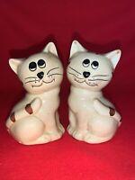 Vintage Precious SWEET KITTY CAT KITTEN Tabby Salt & Pepper Shakers ❤️sj11h5s