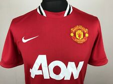 Manchester United 2011 Nike Football Shirt Men's Size M Home Soccer Jersey AON