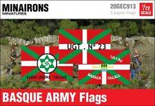 Minairons 1:72 Basque Army flags - 20mm Spanish Civil War