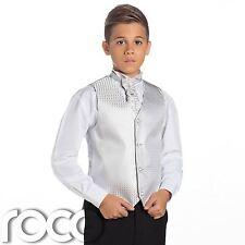 Niños Plateado y negro traje, TRAJE CEREMONIA NIÑO, De Boda, Chaleco Para niño