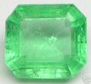 2.81 Karat Poliert Smaragd Schliff Smaragde Beryll
