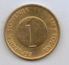 SLOVENIA - 1 Tolar 1996 Brass • 4.5 g • ⌀ 22 mm