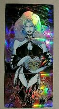 Lady Death-Hope-Buzz-CHAOS Comics!-KROME-Comic-Book-Sexy-3 card-Trading Card