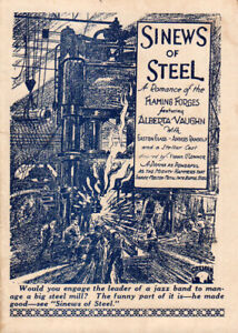 Sinews of Steel Original Movie Herald from the 1927 Movie