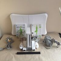Wii CONSOLE bundle wii fit plus board nintendo controllers great gift idea retro