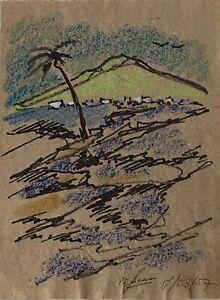 Jean-Louis Simonin - Painting Original - Gouache - Foundation Manrique