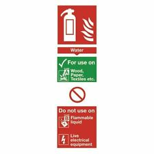 Safety Sign Fire Extinguisher Water 280x90mm Self-Adhesive  [SR71132]