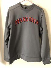 NWT UNDER ARMOUR Texas Tech Red Raiders GRAY Crewneck Sweater Men's M
