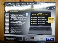 Medion Akoya 15,4 Zoll Home und Business Notebook MD 96780 komplettes Zubehör