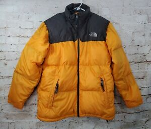 The North Face Boys Puffer Down Jacket Yellow XL 600 Fill
