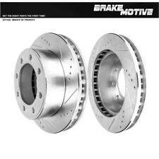 FRONT Drilled Slotted Brake Rotors For Ford Excursion F250 F350 4WD
