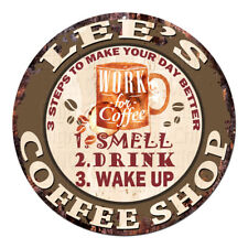 Cwcs-0341 Lee'S Coffee Shop Tin Sign Birthday Mother's day Gift Ideas