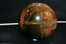 18mm Chatoyant~Golden Blue Hawks TIGER EYE Large Round Bead Pendant - K0990