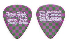 Cheap Trick Tom Petersson Purple Green Checkerboard Guitar Pick - 2016 Tour