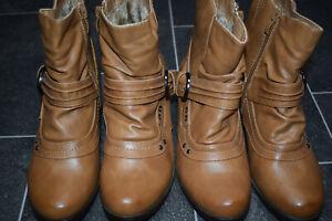 Damen  Stiefeletten Stiefel Boots Halbhohe Damenschuhe Größe 37,38