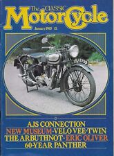 *THE CLASSIC MOTORCYCLE MAGAZINE - JANUARY 1985 - ft: 1935 STEVENS 350 [NO]