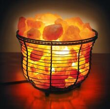 Natural Himalayan Ionic Crystal Salt Ambiance Accent Lamp Basket w/Dim Switch