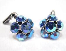 SoHo® Ohrringe Ohrclips geschliffene Kristalle starlight blue aurore boreale