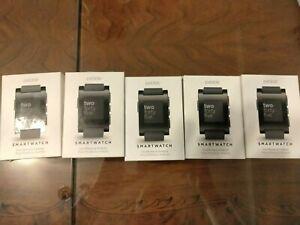5 Pebble Smartwatch Wrist Model 301BL FOR PARTS
