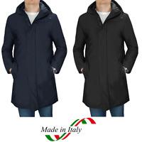 Giubbotto Uomo Parka Invernale Cappotto Elegante Impermeabile Nero Casual
