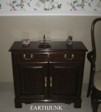Harden Cherry Wood Hall Console Cabinet Georgian Court Formal Style