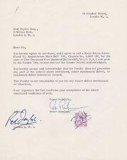 Rod Taylor Autograph, Original Hand Signed Sale of Silver Cloud 111 Letter .