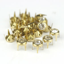 6mm Round Rhinestone Claw Studs Nailhead Spike Leather craft Clothing Shoe Decor