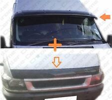 FORD Transit MK6 Sun Visor and Bug Guard Solid Black Acrylic 2002-2005