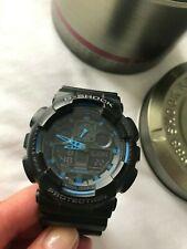 Casio G-Shock, GA-100-1A2ER, Black & Blue, World Time, Stopwatch/Timer, Alarm