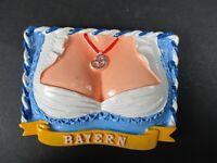 Magnet Bayern Bavaria Dirndl Poly Relief 7 cm Germany Souvenir,NEU