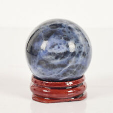 40 mm natural sodalite crystal sphere crystal healing Reiki ball with stand